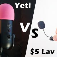 Blue Yeti vs. $5 LAV Mic